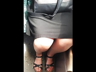 public upskirt and toes in..