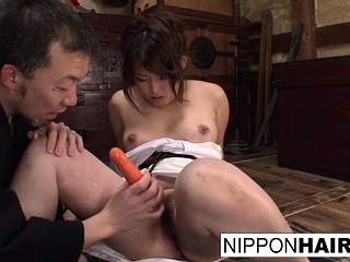 Cute Asian babe gets caught..
