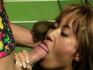Asian MILF gets pounded on a..