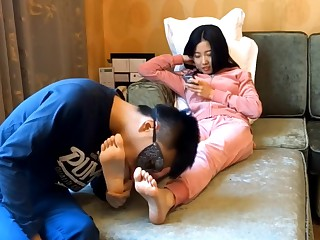 Chinese foot licking