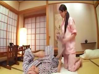 Dutiful Japanese housewife..